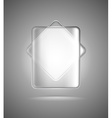 Transparent glass rectangles vector image vector image
