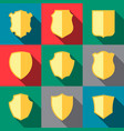 trophy icons coat of arms vector image vector image