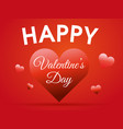 valentines day background with big hearts vector image