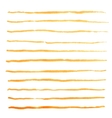 Watercolor stripes strokes orange brushes vector image vector image