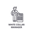 white collar thin line icon sign symbol vector image