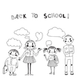 with students Back to school vector image vector image