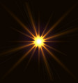 yellow shining star vector image