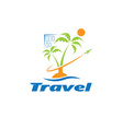 travel template vector image