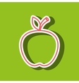 apple drawing isolated icon design vector image