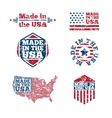 USA labels with grunge effect vector image