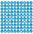 100 gadget icons set blue vector image vector image