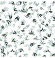 a seamless vintage pattern with harebell flowers vector image vector image