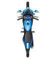 A topview of a blue scooter vector image vector image