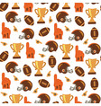 american football icons hand drawn seamless vector image