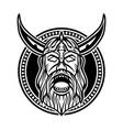 angry viking head creative logo concept vector image vector image