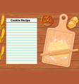 background with a cutting board vector image vector image