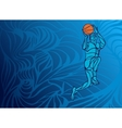 Basketball player Slam Dunk Silhouette vector image vector image