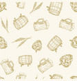 beer seamless background pattern hand vector image