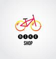bike logo design vector image vector image