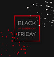 black friday discount sale promo banner design vector image vector image