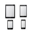black tablet mock up vector image