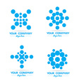 Blue circle bubble logo vector image vector image