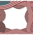 border with american flag with shadow vector image