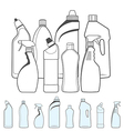 Bottles of Cleaning Products vector image vector image
