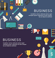 Business Concept and Icons in Flat Design Style vector image vector image