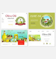 cartoon fresh olive websites set vector image vector image