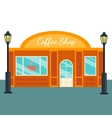 coffee shops and stores front flat style vector image
