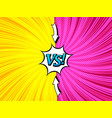 comic bright duel concept vector image vector image