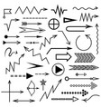 different arrow set for your design vector image