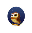 digital funny cartoon owl vector image