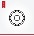 donut icon in modern style for web site and vector image vector image