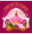 fairytale carriage from princess made flower vector image vector image