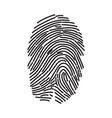 fingerprint icon finger print flat scan vector image vector image