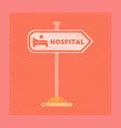 flat shading style icon hospital sign vector image vector image