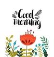 Good morning card vector image vector image