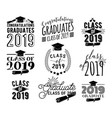 graduation wishes monochrome overlays lettering vector image vector image