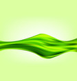green abstract wave silk texture abstract vector image vector image