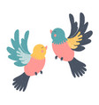 hand drawn birds vector image vector image
