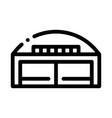 hangar building icon outline vector image vector image