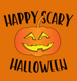 happy scary halloween greeting card vector image vector image