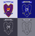 Hockey Badge Emblem Symbol vector image vector image