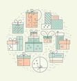 Holiday Gifts Concept vector image vector image