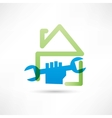 home plumbing icon vector image vector image