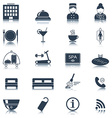 Hotel icons Silhouette Isolated vector image vector image