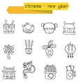 Icon of Chinese with hand draw vector image vector image