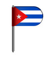 isolated flag of cuba vector image vector image