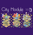 isometric city with skyscrapers vector image vector image