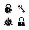 keys and lock simple related icons vector image vector image
