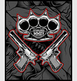 knuckle and gun hand drawing vector image vector image