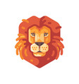 lion head flat icon wild animal vector image